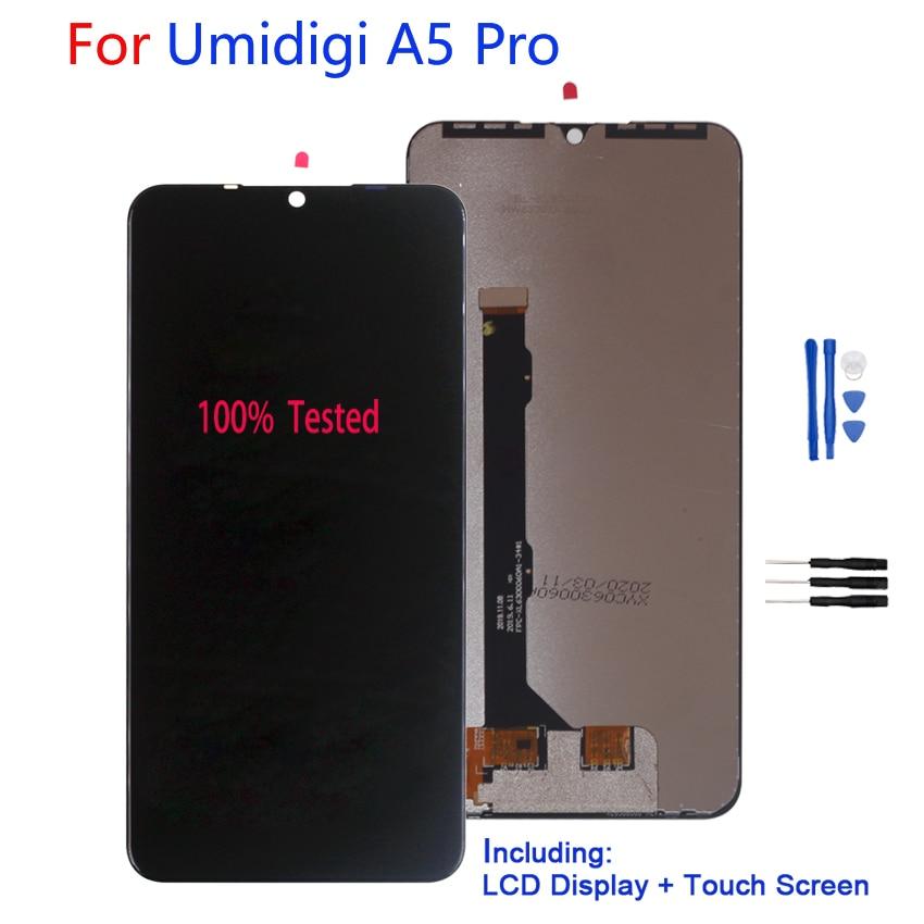 ل UMI UMIDIGI A5 برو الأصلي شاشة عرض LCD تعمل باللمس محول الأرقام الجمعية ل UMI UMIDIGI A5 برو شاشات الكريستال السائل إصلاح