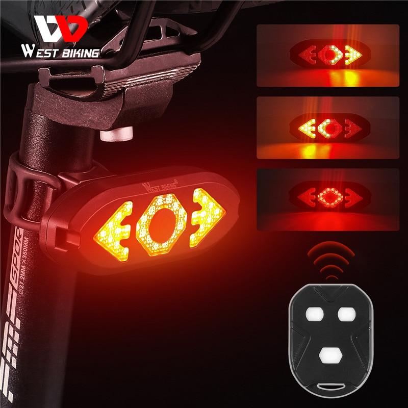 Задний фонарь для велосипеда, беспроводной, с дистанционным управлением, зарядка через USB