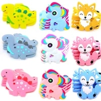 cute animal shape teether teething for baby bpa free food grade silicone chewable chewing toys for teether pendants