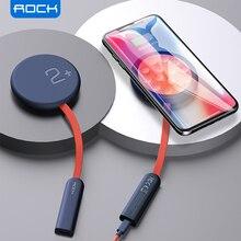 Рок н двухсторонняя Беспроводное зарядное устройство на присоске Беспроводная площадка для быстрой зарядки по стандарту индикаторная лампа 15 Вт Qi зарядное устройство для iPhone SE XS 12 Pro