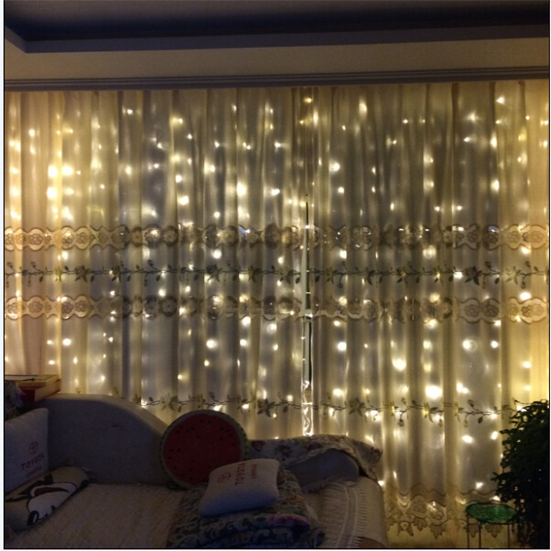 3M x 3M 300 LED Home Outdoor Holiday Christmas Decorative Wedding Xmas String Fairy Curtain Garlands Strip Party Lights