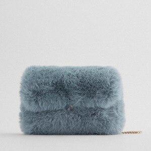 2020 New Lovely Soft Faux Fur Tote Korean Plush Top-handle Bags Ladies Women Fluffy Handbag Faux Rabbit Fur Shopping Bags