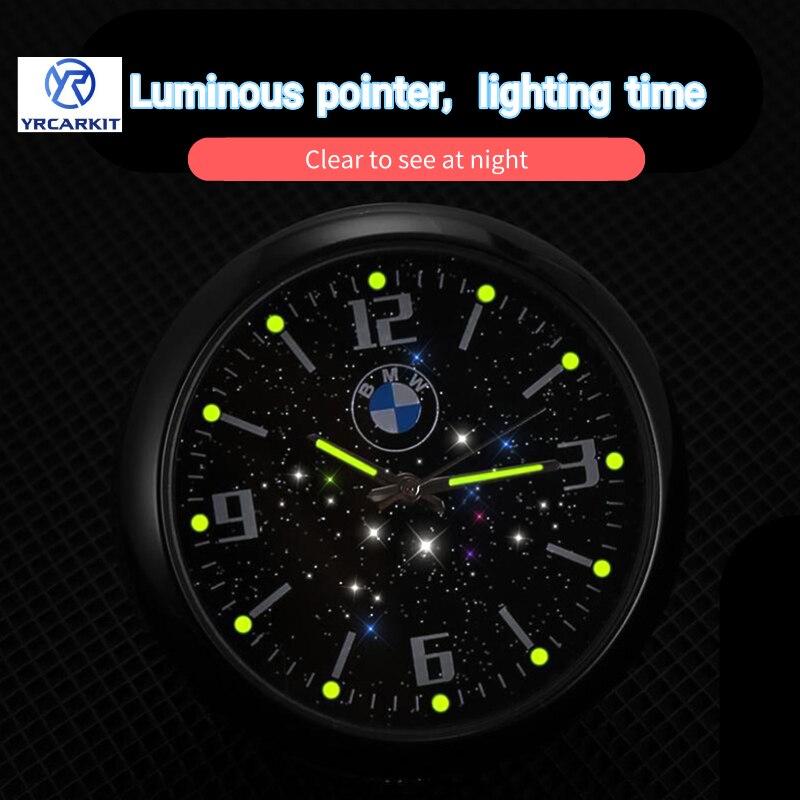 Автомобильные светящиеся часы, часы с клипсой на вентиляционное отверстие, украшение салона автомобиля, автомобильные часы, автомобильные ...