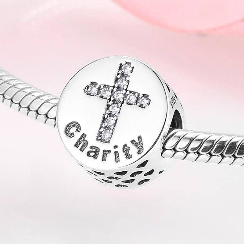 Abalorios de la letra de la Plata de Ley 925 auténtica de buena reputación, encantos aptos para Pulsera Original JIUHAO, collar de mujer, joyería de moda