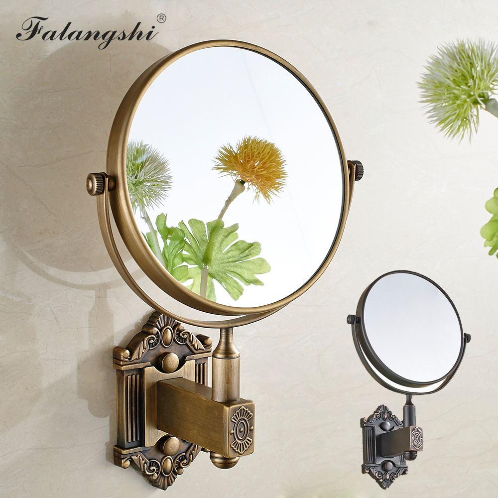 Bathroom Wall Mirror Antique Bronze Euro Style Bath Makeup Mirror Adjustable Round Cosmetic Mirrors Bathroom Accessories WB8901