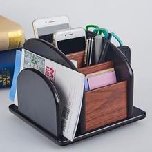 Bricolage bois bureau papeterie supports bureau rangement organisateur 360 rotatif stylo porte-crayons Table bureau porte-papier papeterie