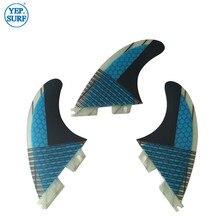 FCS II dérives en fibre de verre nid dabeille FCS2 G5 planche de surf couleur bleue
