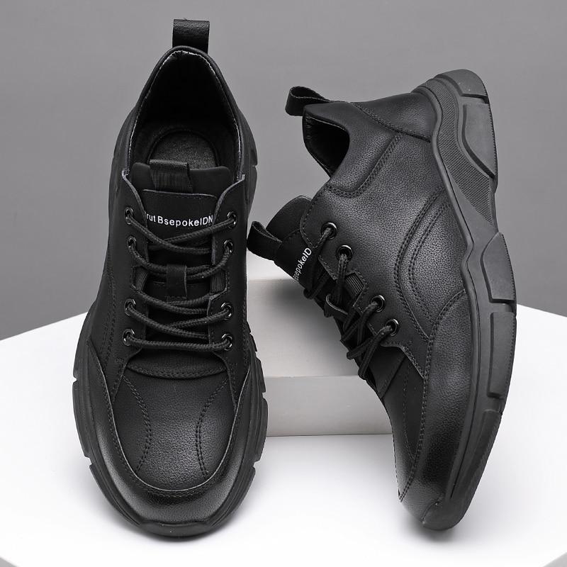 Misalwa Matte / Plain Black White New Designers Men's Sneakers Men Style Outdoor Fashion Footwear Man Trendy Comfy Casual Shoes