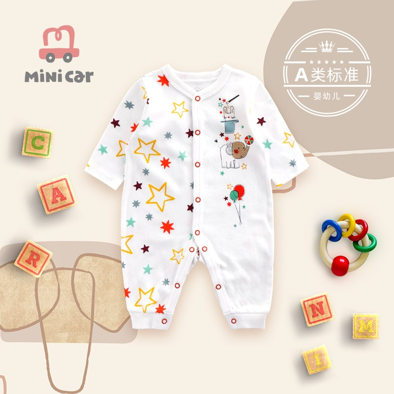 Spring And Autumn Baby Rompers Newborn Baby Clothes For Girls Boys Long Sleeve cotton Jumpsuit Baby