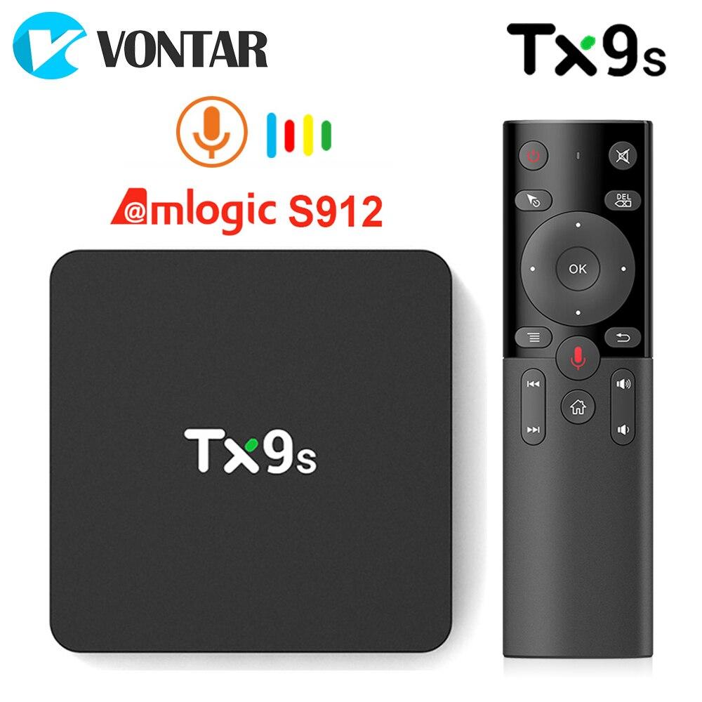2020 TX9S صندوق التلفزيون Amlogic S912 ثماني النواة 2GB 8GB 4K مجموعة صندوق علوي واي فاي دعم يوتيوب مشغل الوسائط مربع التلفزيون الذكية تانيكس TX9S