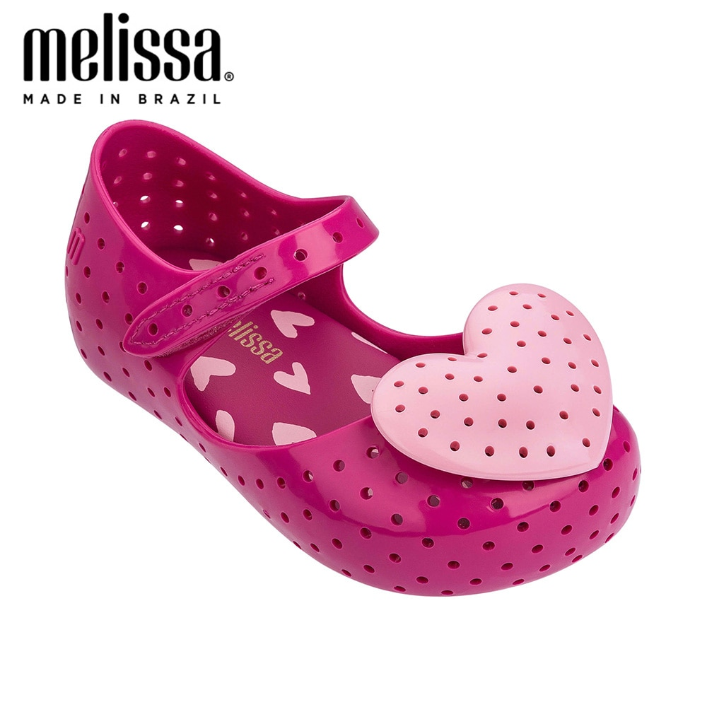 Mini Melissa Lovely de corazón Girl zapatos de gelatina sandalias 2020 nuevos zapatos de bebé sandalias de fondo suave Melissa para niños antideslizante princesa