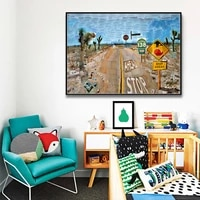 classic artwork 1986 pearblossom highway posters and prints canvas print painting art wall picture for living room home decor