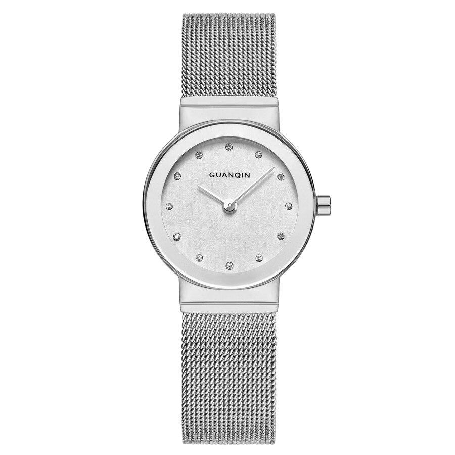 GUANQIN relojes de pulsera para mujer relojes de pulsera de cuarzo de marca de lujo para mujer relojes de pulsera de acero inoxidable