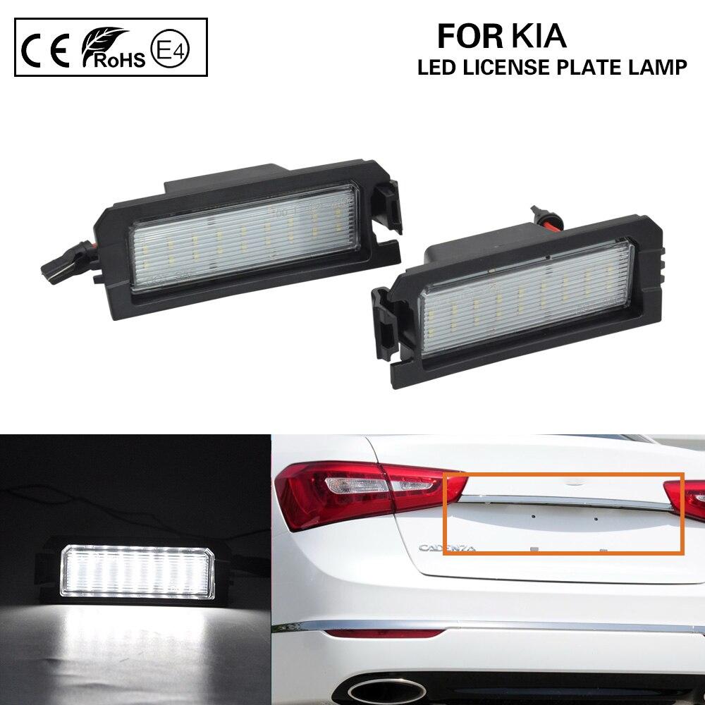 2 uds para Hyundai i30 de PDE N i30N Fastback de Elantra GT Sonata HEV Kia Rio Niro Cadenza LED para placa de matrícula de luz