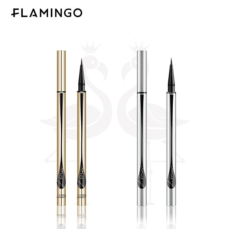 FLAMINGO Liquid Eyeliner Pen Cosmetics Soft Brush/Sponge Tip For Beginner Waterproof Long-lasting Quick-drying Smooth Make Up