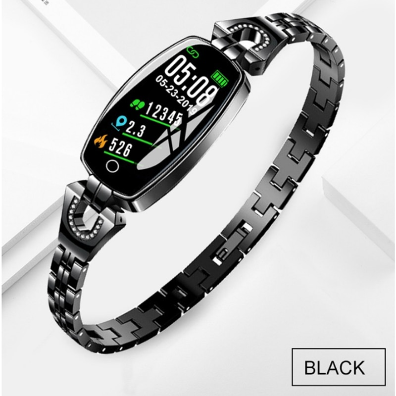 Reloj inteligente H8 para mujer elegante, reloj de pulsera IP67 resistente al agua