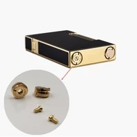 durable replacement gas adjustment bottom screw rivets for dupont ligne2 france gas lighter repair part screw diameter 8mm