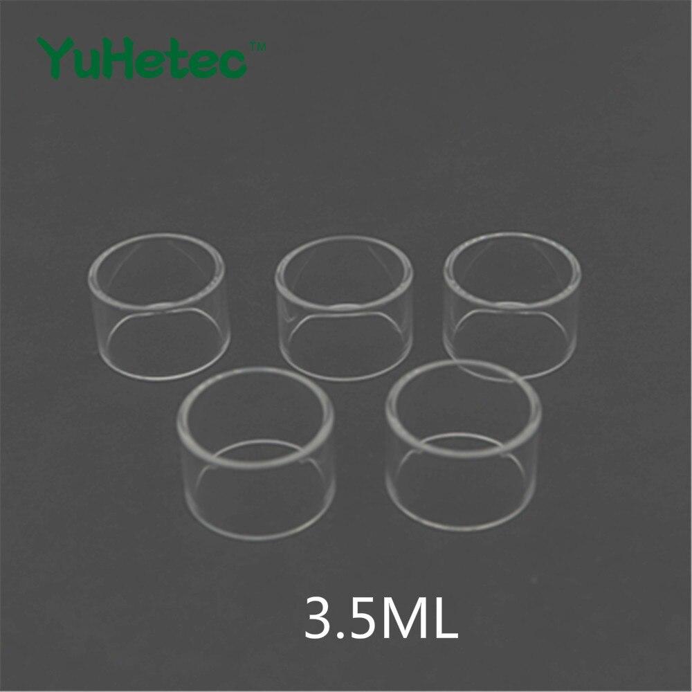 5pcs YUHETEC Replacement Glass TUBE For Coil Father King Style RDTA 3.5ml 25mm Diameter Tank Glass Tube E Cigarette enlarge