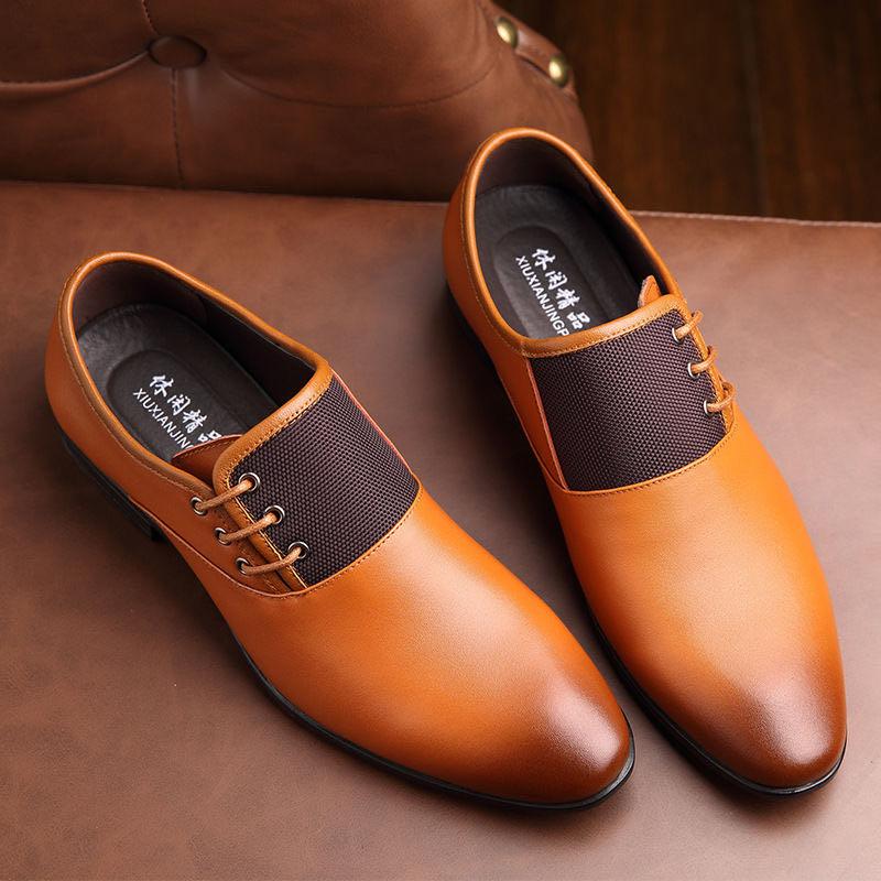 2020 moda Zapatos de vestir de negocios para hombres nuevos Cuero clásico trajes para hombres zapatos de vestir de moda Slip On zapatos de hombres Oxfords tamaño 38-48