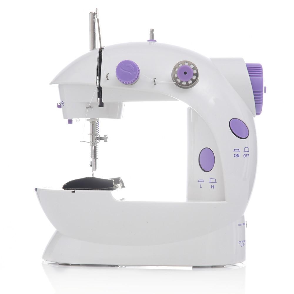 Mini máquina de coser portátil, máquina de coser doméstica, doble velocidad, ropa sin cables ajustable, telas, máquina de coser eléctrica