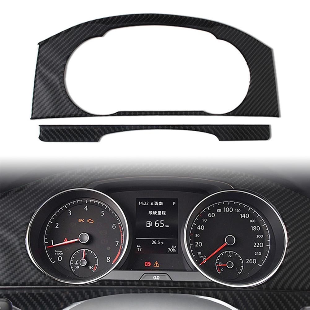 Painel de painel interior do carro guarnição capa para volkswagen vw golf 7 gti mk7 2014-2019 fibra de carbono abs decorar acessórios do carro