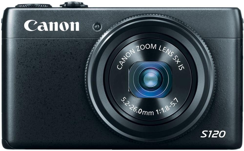 كاميرا كانون مستعملة PowerShot S120 12.1 MP CMOS رقمية مع تقريب بصري 5x و 1080p Full HD Video wi-fi