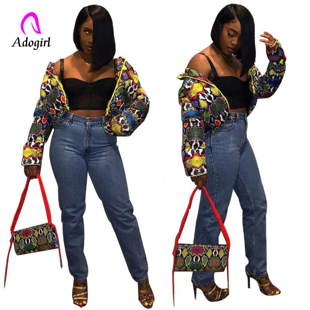 Abrigo colorido de burbujas para mujer grueso 2019 nuevo Otoño Invierno mujeres Tie Dye estampado cremallera manga larga abrigo camuflaje Parka mujeres