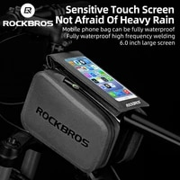 rockbros 2 in 1 cycling bag waterproof touch screen bicycle bag mtb road bike top tube frame 6 0 screen removable phone bags