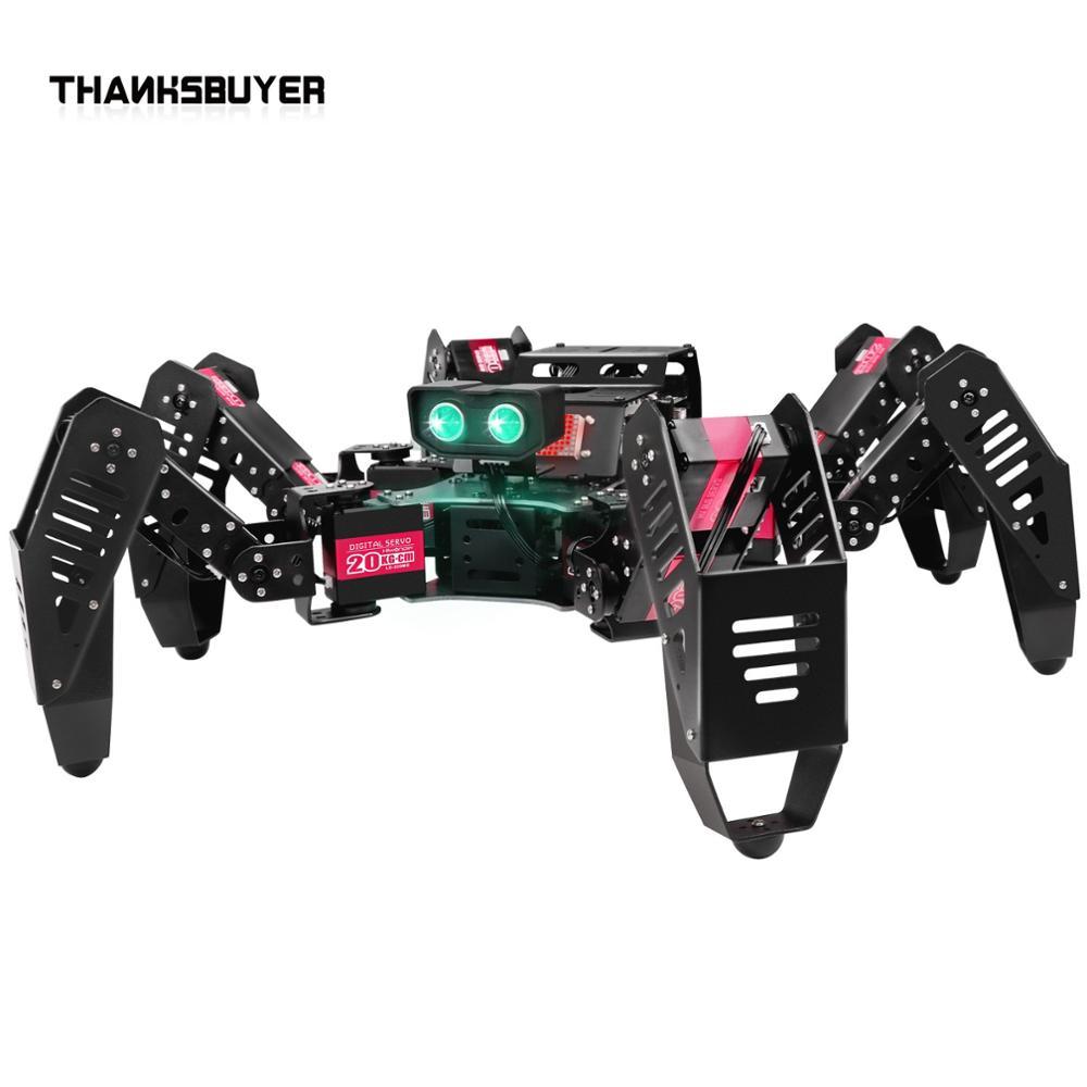 TZT 18DOF Spiderbot Hexapod-روبوت العنكبوت القابل للبرمجة ، الإصدار القياسي ، مجمع الروبوت لاردوينو