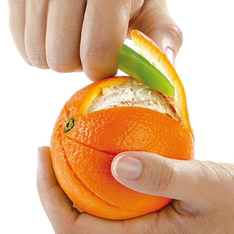 Gran oferta peladores Zesters pelador de naranja dispositivo + cuchillo pelador de zumo ayuda para frutas herramientas de cocina accesorios de cocina