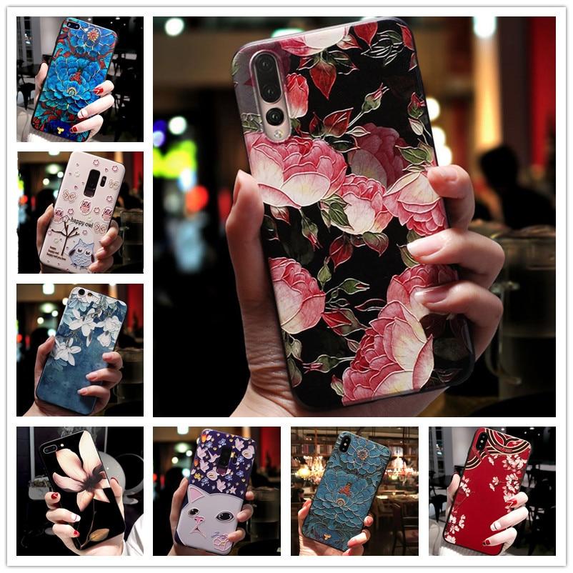 For Lenovo S5 Pro Case 3D Flower Emboss Silicone Phone Cover For Lenovo Z5 Pro GT K5 Play K320T Z6 Pro K5S Cases Soft Relief S 5