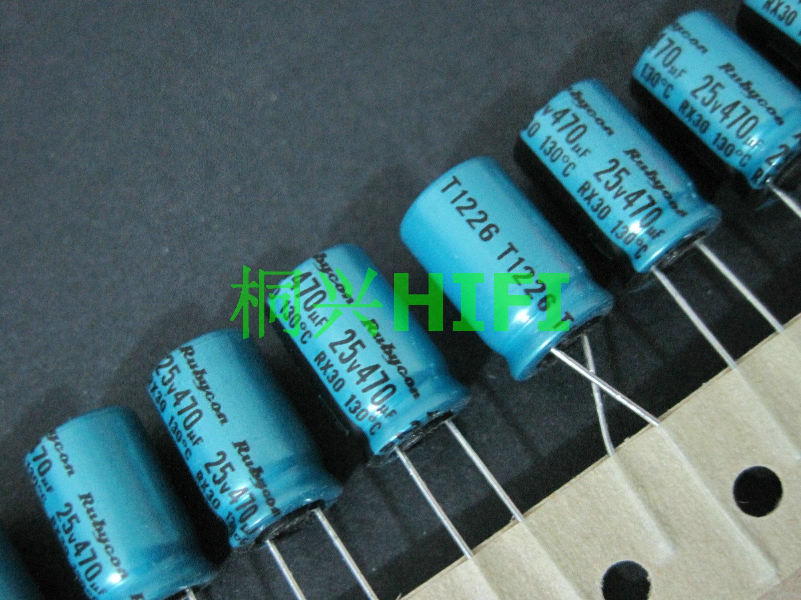 20 piezas nuevo RUBYCON RX30 25V470UF 10X16MM condensador electrolítico rx30 470 uF/25 V 130 grados rx30 470UF 25V