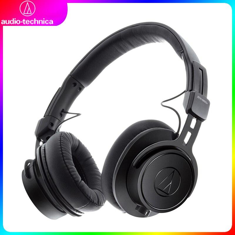 Puro com Cabo Ath-m60x com Fio de Áudio Technica Monitor Profissional Fone Ouvido Alta Fidelidade Som Destacável Bolsa Portátil