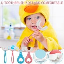 Baby Toothbrush Children 360 Degree U-shaped Toothbrush Teethers Soft Silicone Baby Brush Kids Teeth
