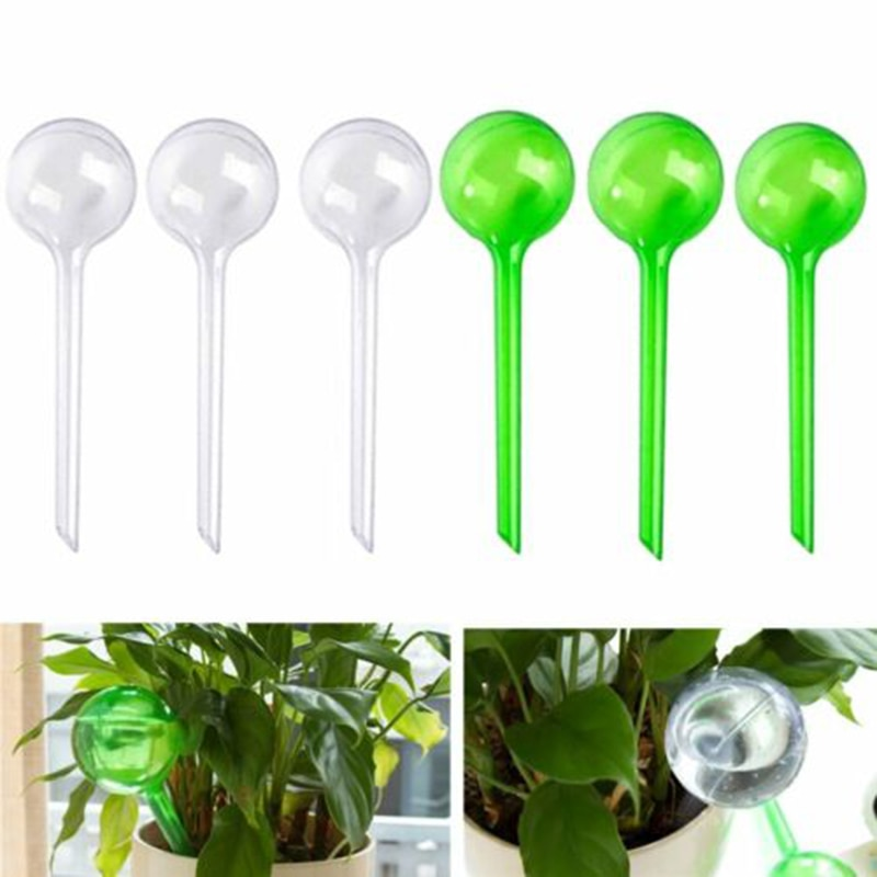 10PCS Plant Automatic Self Watering PVC Bulbs Ball Aqua Globes Watering Feeder
