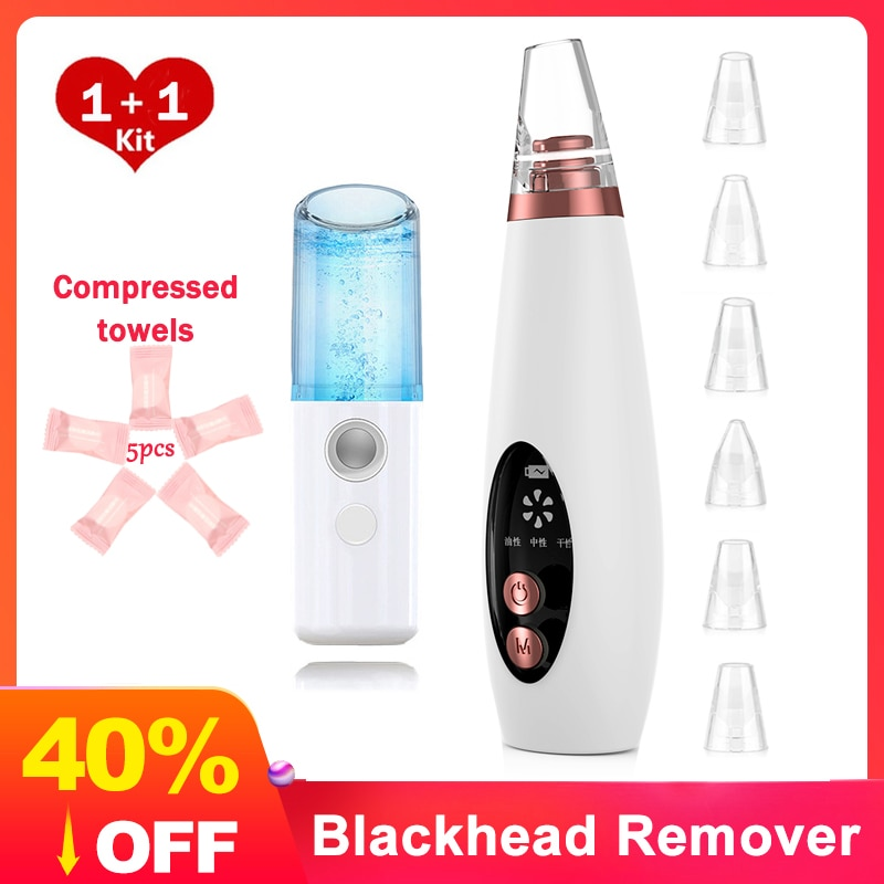 Blackhead Remover Face Pore Vacuum Skin Care Acne Pore Cleaner Pimple Removal Vacuum Suction Tools blackhead remover vacuum electric vacuum pore cleaner face nose acne blackhead remover pimple vacuum cleaner skin professional facial care tools machine