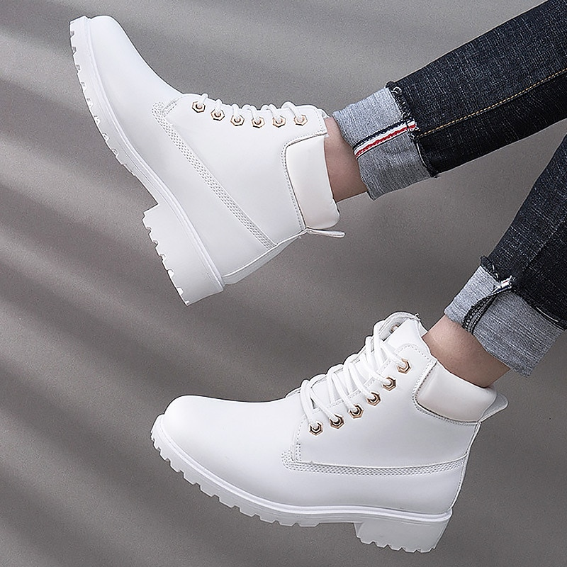 Winter boots women shoes 2019 warm plush sneakers women snow boots women lace-up ankle boots casual shoes woman botas mujer snow boots women shoes 2020 warm plush waterproof casual shoes woman mid calf winter platform shoes women boots zapatos de mujer