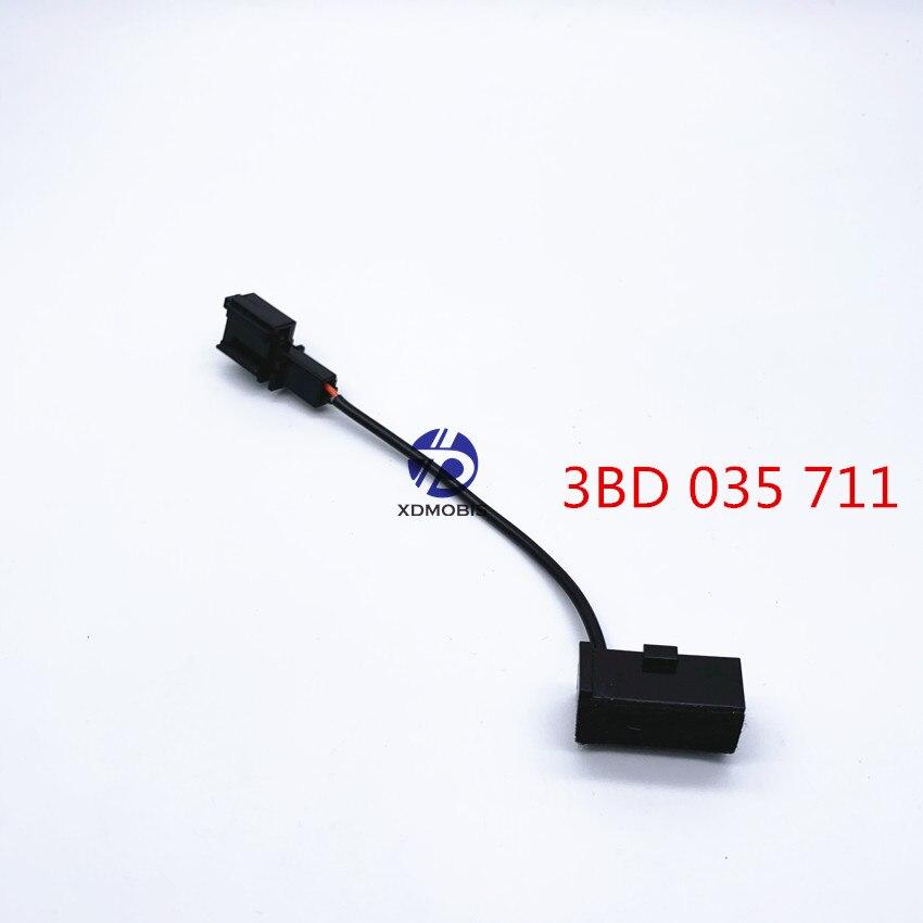 Microfone adaptador cabo arnês para vw bluetooth 9w2 9zz microfone microfone 3bd 035 711/3bd035711