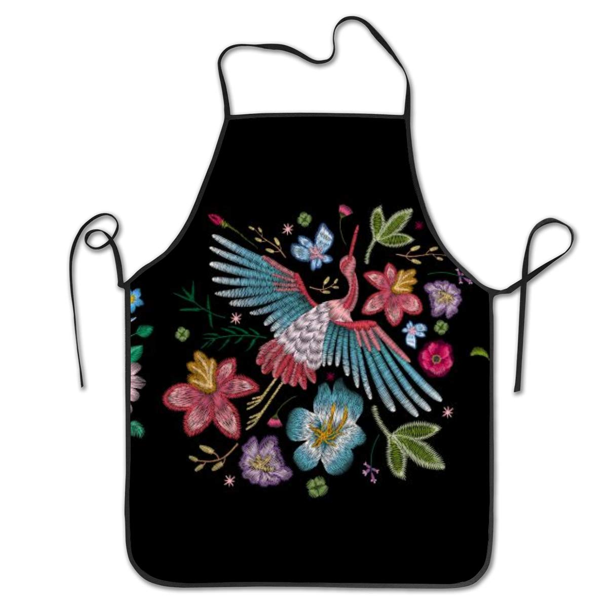 Кран Птица, цветы вышивка готовка кухня Выпечка Садоводство стрижка красивый фартук смешной нагрудник фартуки для женщин мужчин шеф-повара