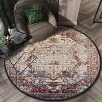 retro round persian style rug living room sofa table rug bedroom bedside blanket geometric ethnic non slip floor sock doormat