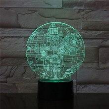 Star Wars Death Star 3D Lamp Led Acrylic Visual Stereo Fighter 3D Night Light Touch Sensor LED Table Lamp For Children Gift 2891
