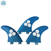 surf fins double tabs l fin honeycomb surfboard fin blue color surfing fin quilhas thruster surf accessories