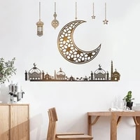 home deco wall stickers moon chandelier star castle kids bedroom self adhesive beautification decorative removable wallpaper