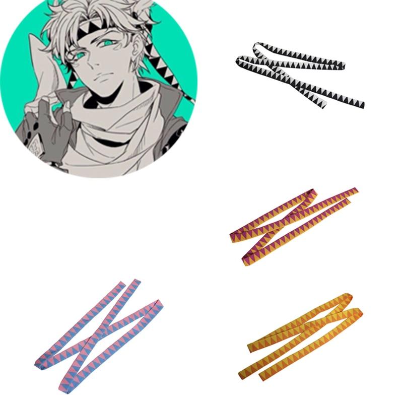 Anime jojo bizarro aventura caesar anthonio zeppeli cosplay headwear prop bandana acessórios