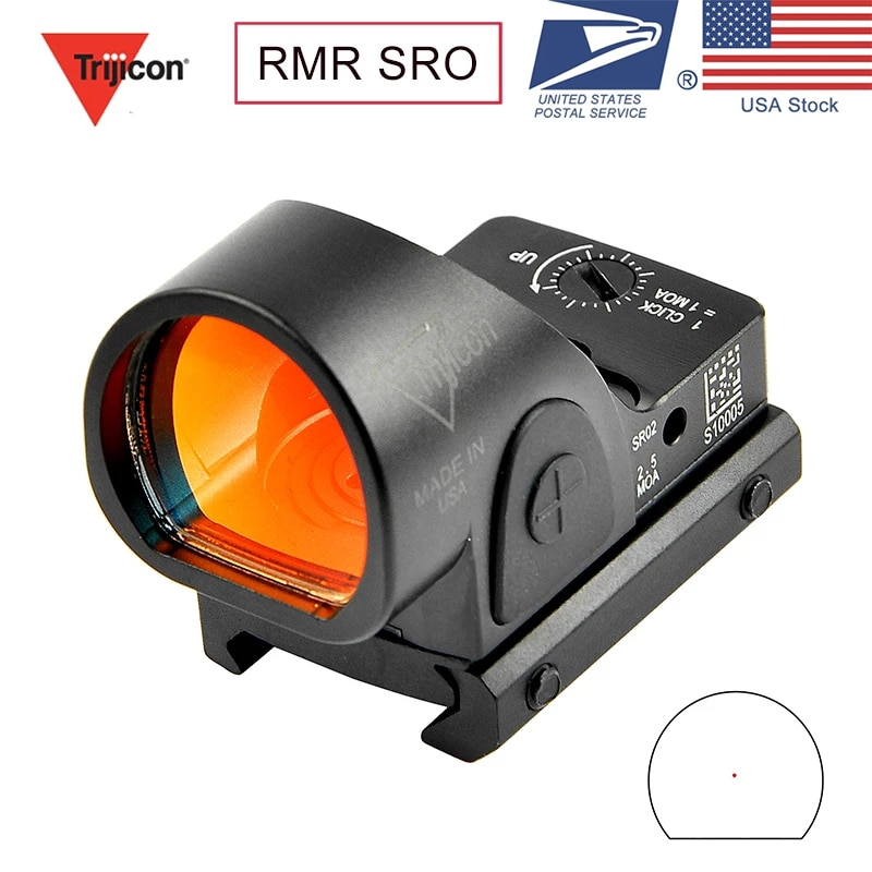 arisaka offset optic mount for red dot sights aimpoint micro t1 t2 h1 h2 trijicon rmr sro sig romeo 5 holosun hs403 hs503 hs515 Trijicon  Mini New Mini RMR SRO Red Dot Sight Collimator  / Rifle Reflex Sight Scope fit 20mm Weaver Rail For Hunting Rifle