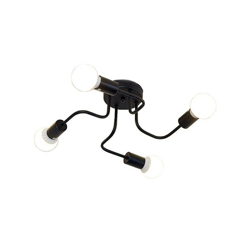 preto do vintage arte ferro industrial luz de teto branco 4 cabecas luz para decoracao