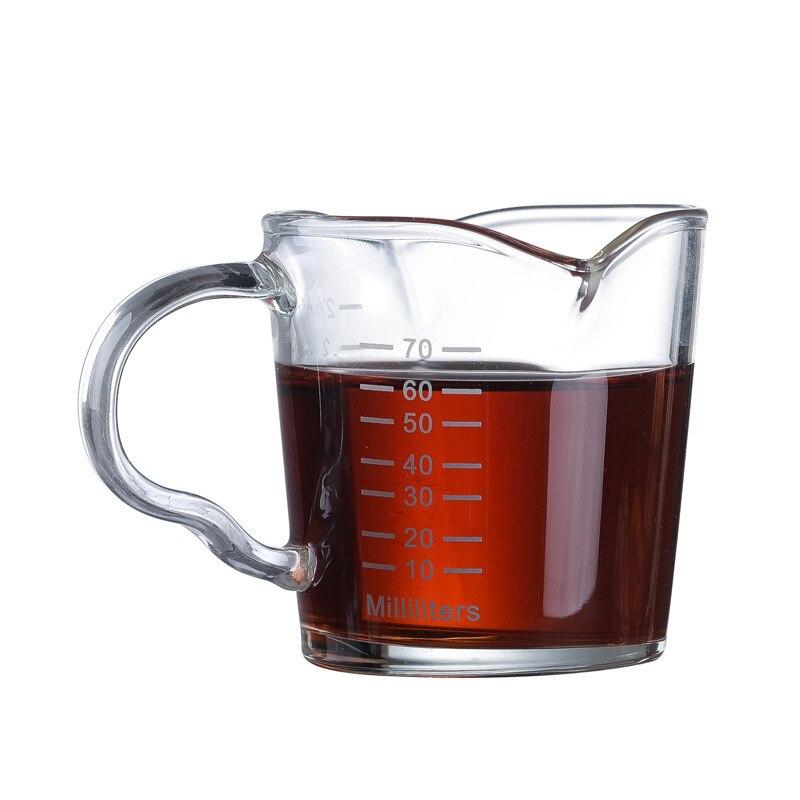 Taza de medición de café de doble Caño resistente al calor para el hogar y la cocina P7Ding