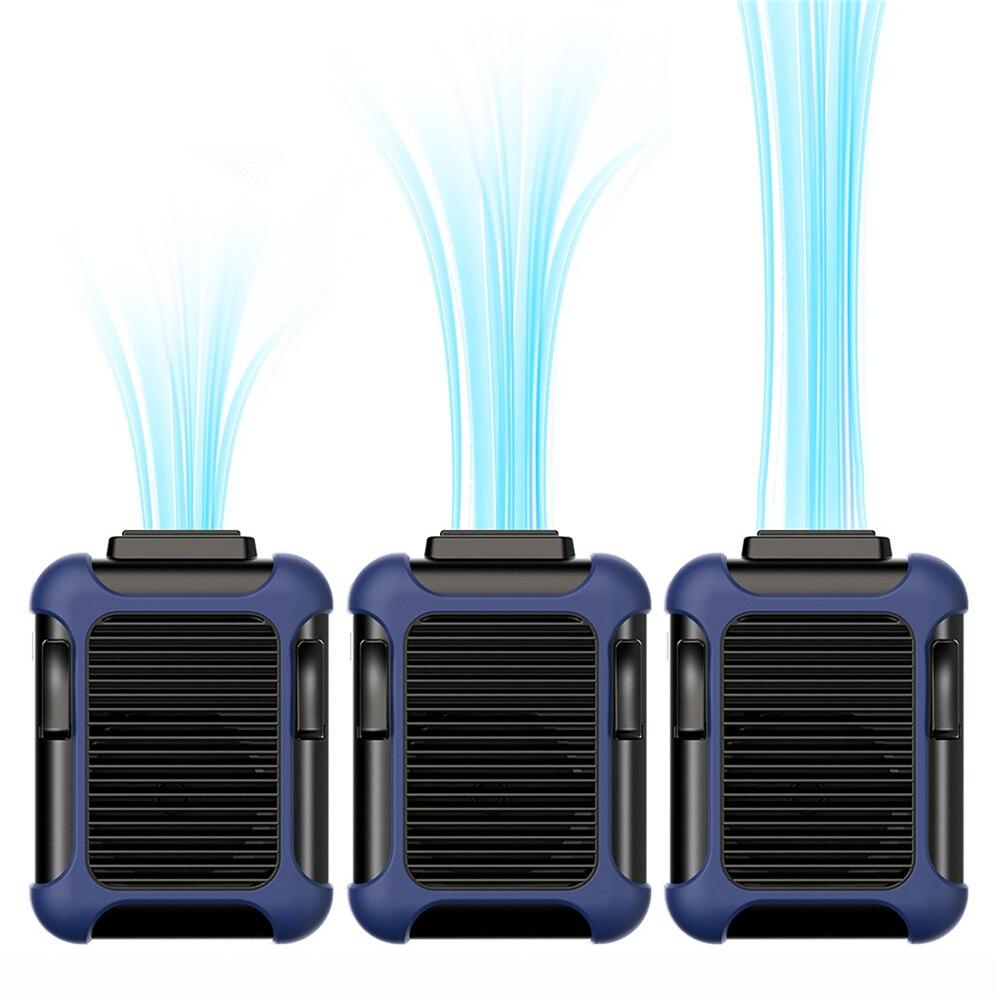 Abanico para colgar cuello perezoso portátil Mini ventilador de refrigeración de cintura recargable trabajo al aire libre deportes granja pesca jardinería 4000mAh batería