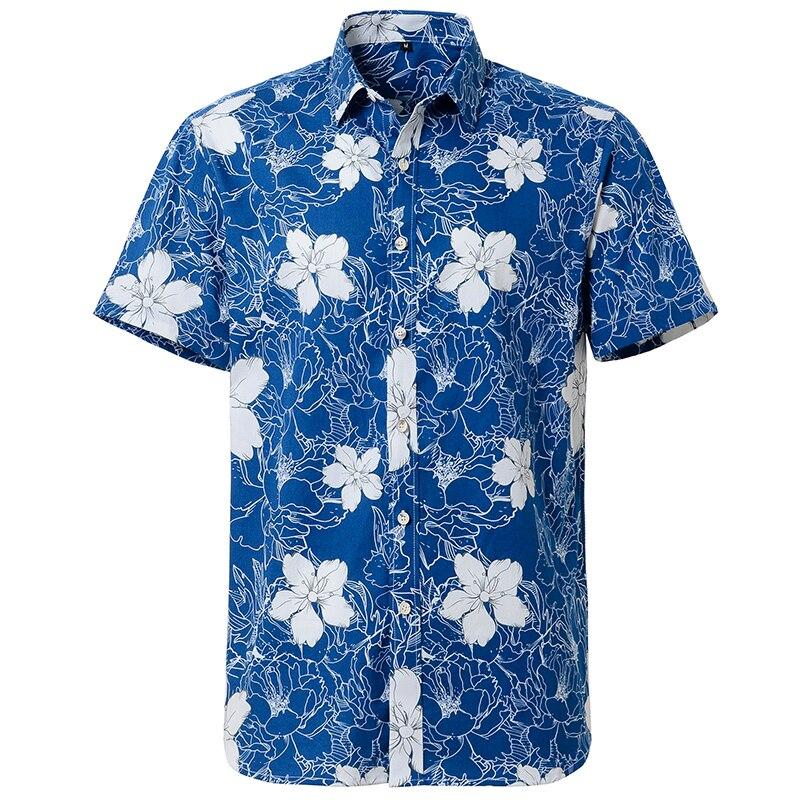 Гавайская Мужская рубашка с цветочным принтом, короткий рукав, Стандартный крой, пляжная одежда, Прямая продажа с завода, японская мода, лет...