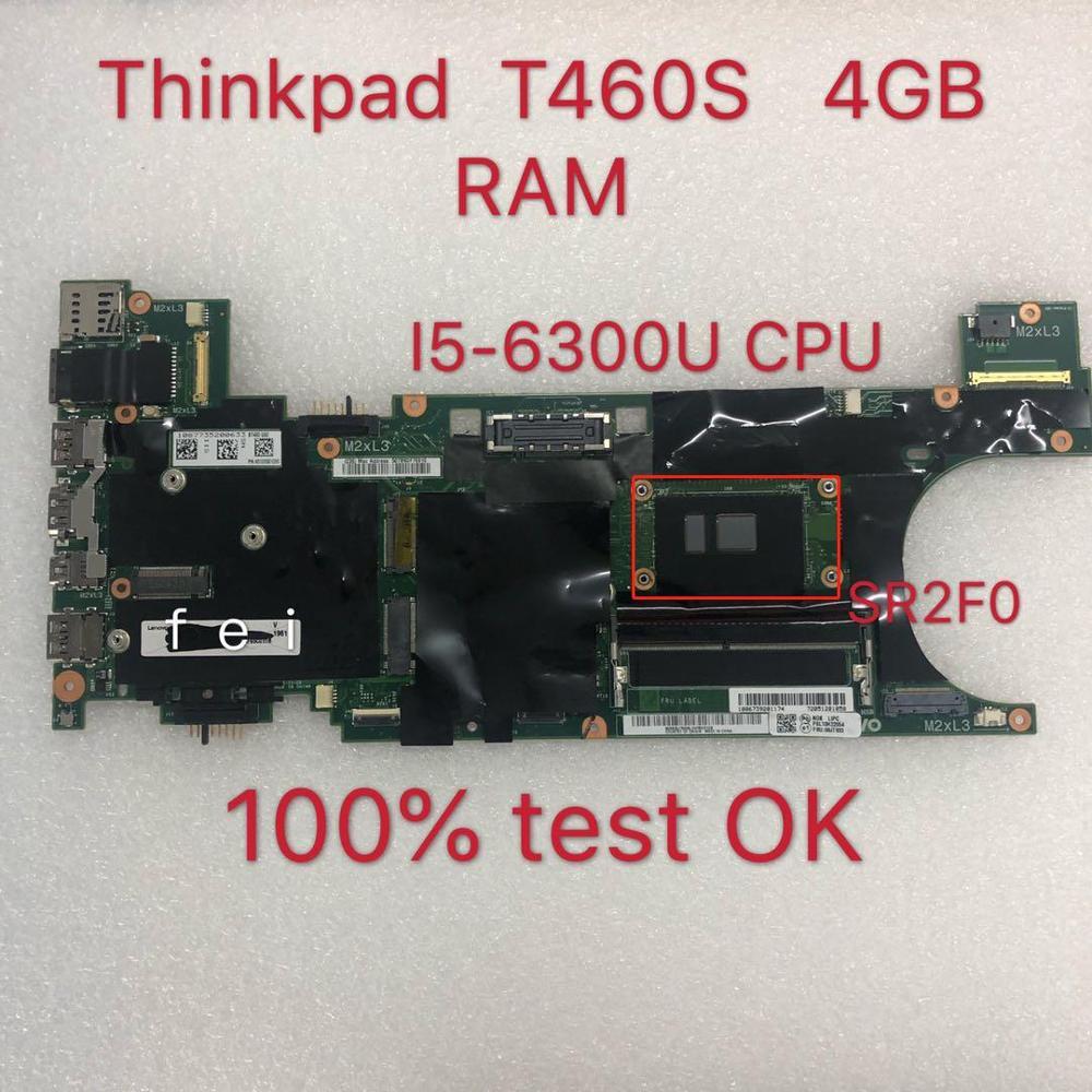 ل T460S اللوحة اللوحة الفقرة ثينك باد محمول 20F9 20FA BT460 NM-A421 CPU: I5-6300U DDR4 4GB FRU 00JT937 100% اختبار موافق